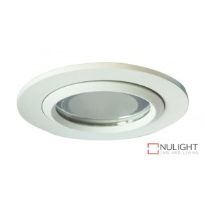 Vida 100 Round Glass Covered Downlight White ORI