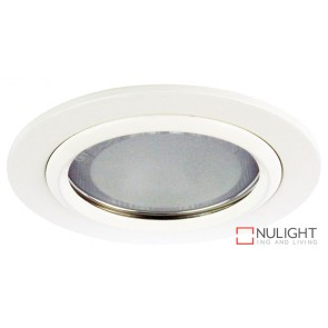 Vida 120 Round Glass Covered Downlight White ORI