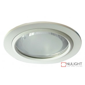 Vida 140 Round Glass Covered Downlight White ORI