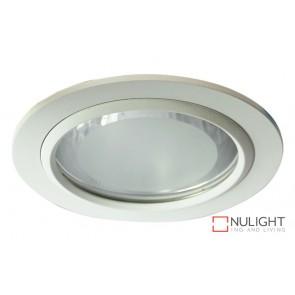 Vida 140 Round Glass Covered Downlight White ORI