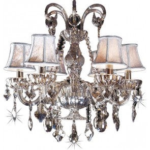 6 light Smoke Crystal Chandelier Lighting Avenue