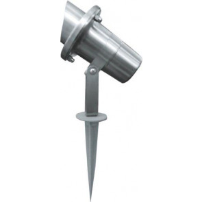 Hooded Adjustable Spike Light in Stainless Steel Lighting Avenue