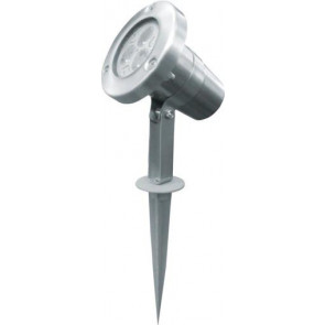 Plain Adjustable Spike Light in Stainless Steel Lighting Avenue