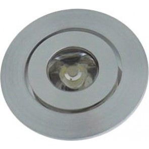 Round Under Cabinet Recessed Light in Aluminium Lighting Avenue