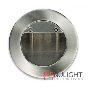 Round Step light Led Satin Chrome ASU