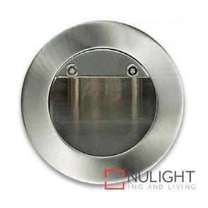 Round Step light Led Satin Chrome ASU