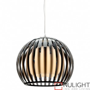 Lucerne 1 Light Pendant Large Black COU