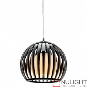 Lucerne 1 Light Pendant Small Black COU