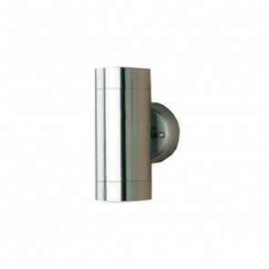 Two Light GU10 Up and Down Wall Bracket in Stainless Steel Lummax