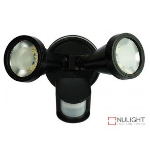 Cadet Led Twin Sensor Flood Black ORI