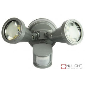 Cadet Led Twin Sensor Flood Silver ORI