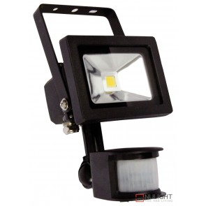 Foco 10W Led Sensor Flood Light Black Ip44 ORI