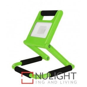 PORTABLE GREEN FLOODLIGHT LED 10W 6500K 2 years wrty CLA