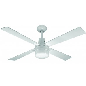 Alpha Ceiling Fan in White with Clipper Light Martec
