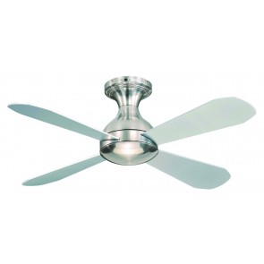 Ariel CTC Ceiling Fan in Brushed Nickel with Light Martec