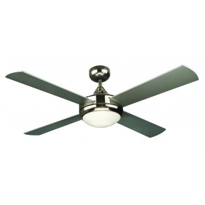 Four Seasons Primo 120cm Ceiling Fan in Brushed Nickel With Light Martec