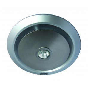 Gyro Round Exhaust Fan in Silver with Light Martec