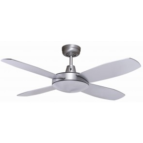 "Lifestyle 107cm (42"") Mini Brushed Aluminium Ceiling Fan Martec"