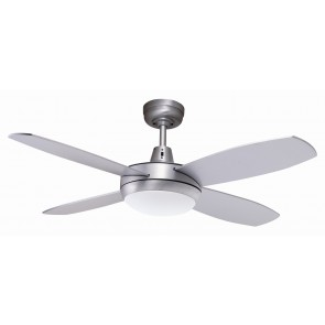 "Lifestyle 107cm (42"") Mini Brushed Aluminum Ceiling Fan with Light Martec"