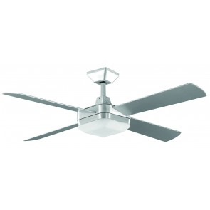 Quadrant 130cm Ceiling Fan in Brushed Aluminum with Fluoro Light Kit and Remote Martec