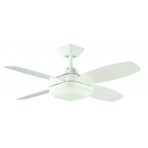 Quadrant Mini 106.7cm Ceiling Fan in White with Halogen Light Martec