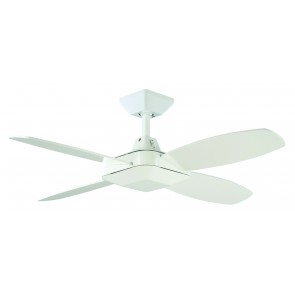 Quadrant Mini 106.7cm Ceiling Fan in White Martec