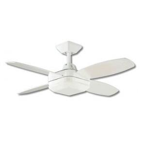 Lighting Australia Quadrant Mini Ceiling Fan In White With Fluro Light Martec Nulighting Com Au