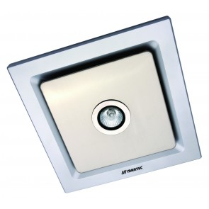 Tetra Light Square Exhaust Fan and 50W Light in Silver Martec