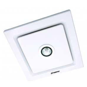 Tetra Light Square Exhaust Fan and 50W Light in White Martec