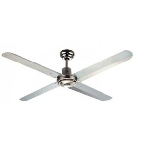 Trisera Interchangeable 3 or 4 Blade 130cm Ceiling Fan in Brushed Nickel with Remote Control Martec