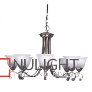 Mi Lighton 8 Light Pendant Brushed Chrome MEC