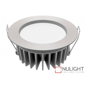 Optica 12 Watt LED Downlight - 3000K Aluminium MEC