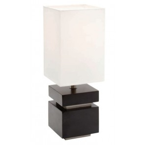 Basil One Light Table Lamp in Chocolate Mercator Lighting