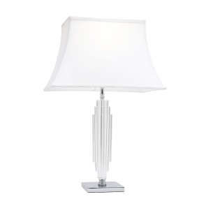 Hero One Light Table Lamp with K9 Base in Chrome Mercator Lighting