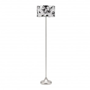 Layla One Light Floor Lamp in Brushed Chrome Mercator Lighting