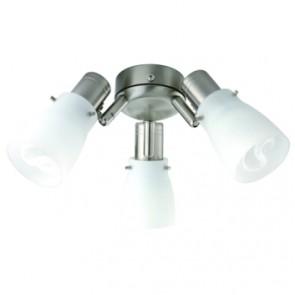 Macedon 3x12 Watt E14 Ceiling Fan Light Mercator Lighting