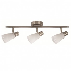 Macedon Three Light Spotlight in Brushed Chrome Mercator Lighting