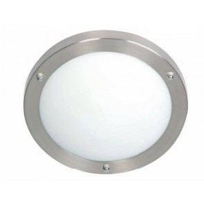 Noosa Close to Ceiling One Light DIY in Brushed Chrome Mercator Lighting