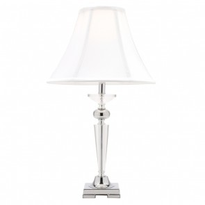 Olympia One Light Crystal Table Lamp in Chrome Mercator Lighting