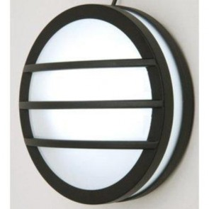 Todd Exterior Wall Bracket with Grill in Graphite Mercator Lighting