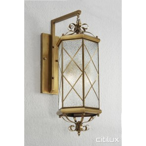 Merrylands Classic Outdoor Brass Wall Light Elegant Range Citilux