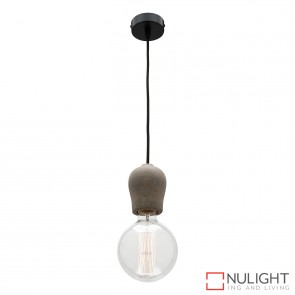 Polly 1 Light Pendant Concrete MEC