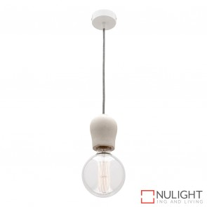 Polly 1 Light Pendant Stone Finish MEC