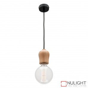Polly 1 Light Pendant Natural Timber MEC
