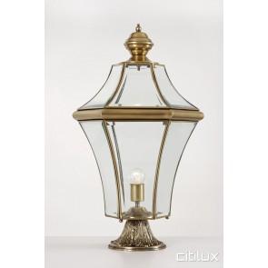 Mount Pritchard Classic Outdoor Brass Made Pillar Mount Light Elegant Range Citilux
