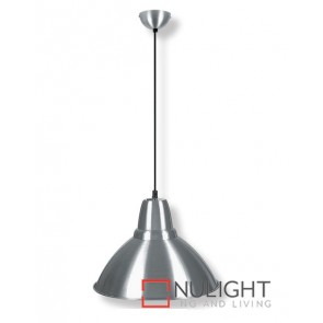 Metal Pendant 360Mm Satin Chrome ASU