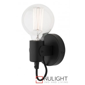 Bronte Wall Light Black MEC