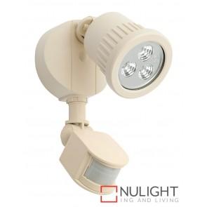 Ritz 1 Light LED Exterior Floodlight with Sensor Beige MEC