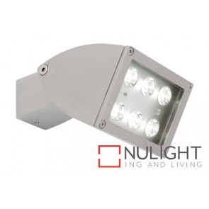 Zone 1 Light LED Exterior Floodlight Brushed Chrome MEC