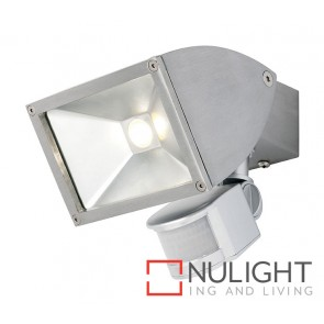 Zone2 LED 11W Exterior Floodlight with Sensor Brushed Chrome MEC